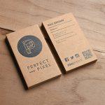 In card visit kraft rất hợp với người mệnh thổ