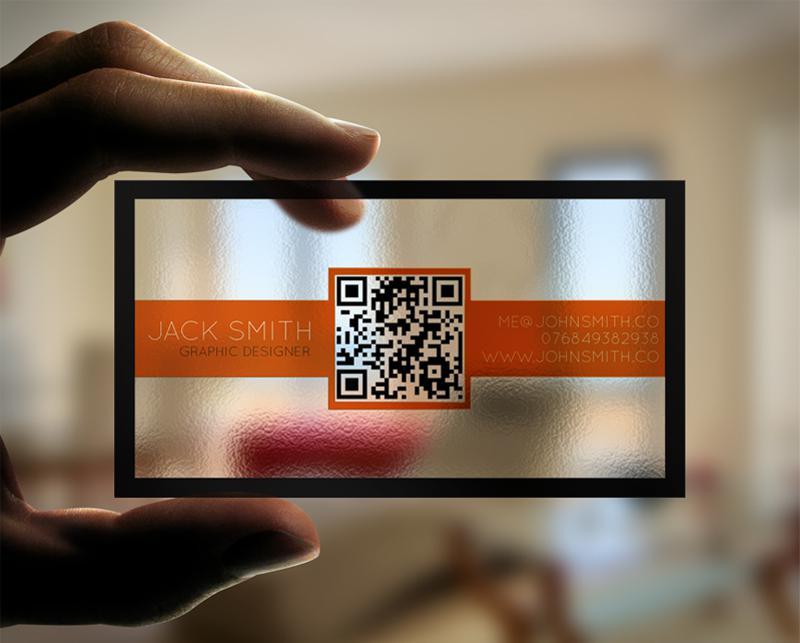 In thẻ nhựa trong có in qr-code