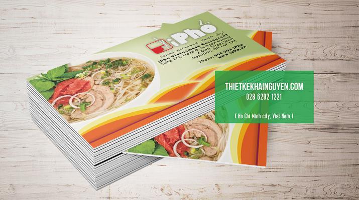 Thiết kế & in card visit quán Phở
