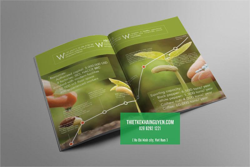 Phần mở đầu của mẫu thiết kế catalogue sản phẩm nông nghiệp