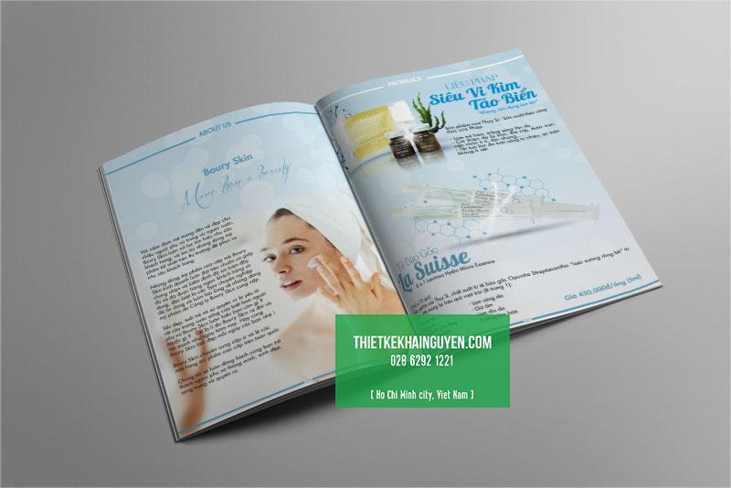 Thiết kế catalogue dịch vụ spa