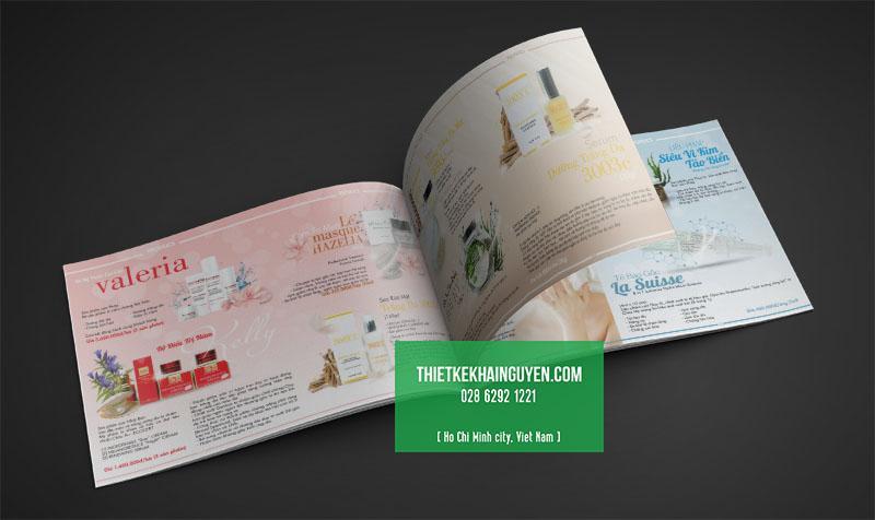 Catalogue mỹ phẩm - mẫu thiết kế khổ ngang