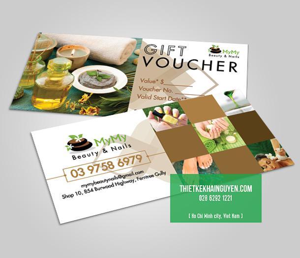 Gift voucher cho Spa đơn giản và ấn tượng