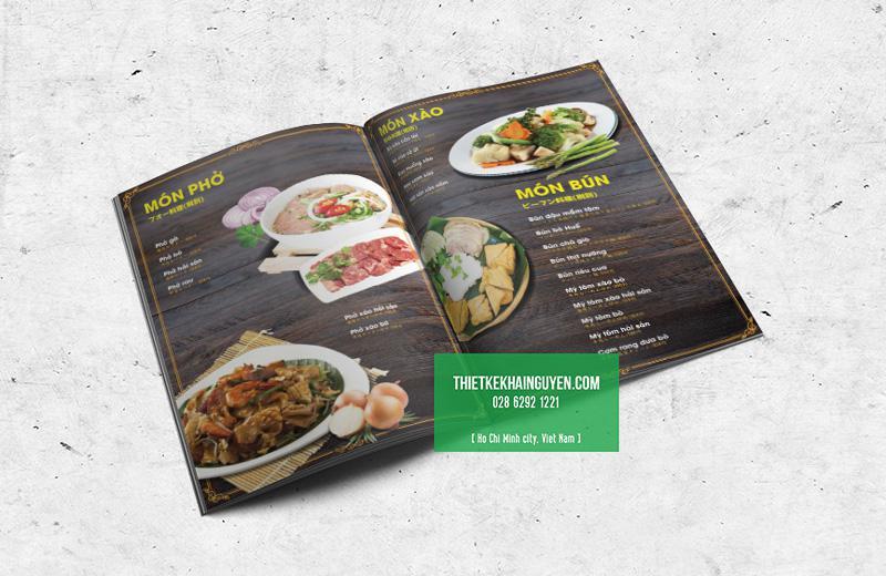 Thiết kế menu nhà hàng Phở