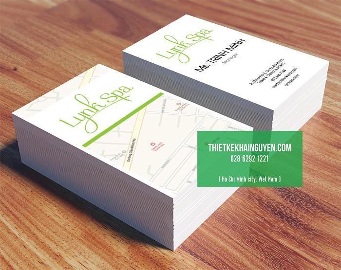 Mẫu thiết kế & in ấn name card Lynk Spa