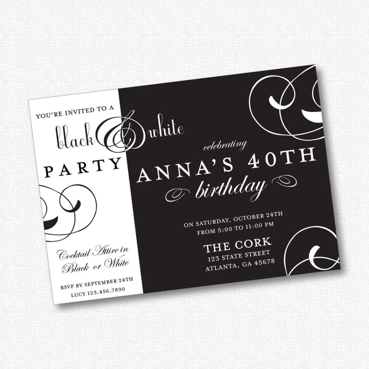 Mẫu thiết kế thiệp mời party đẹp