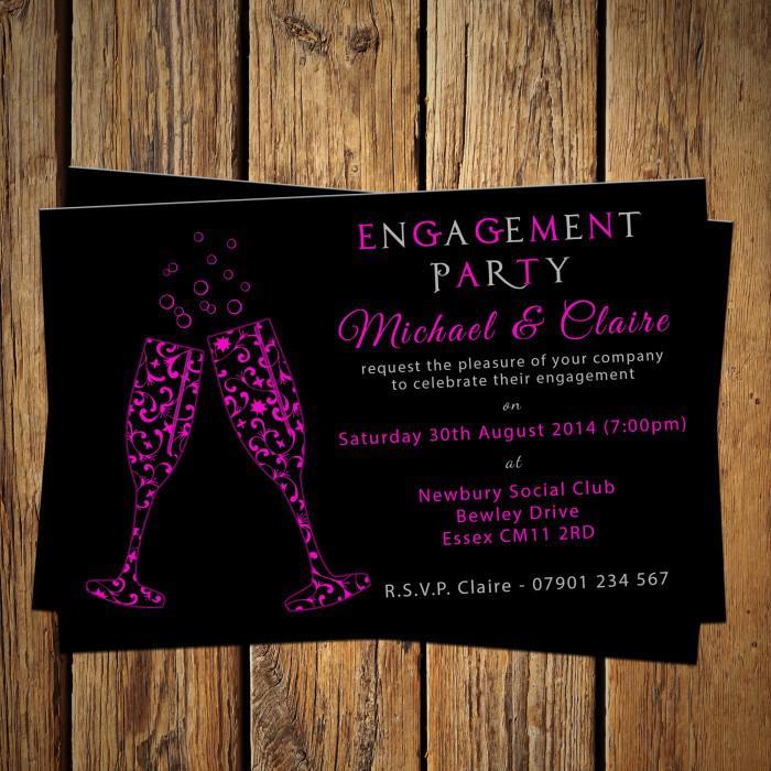 Thiệp mời dự tiệc sắc tím đen sang trọng