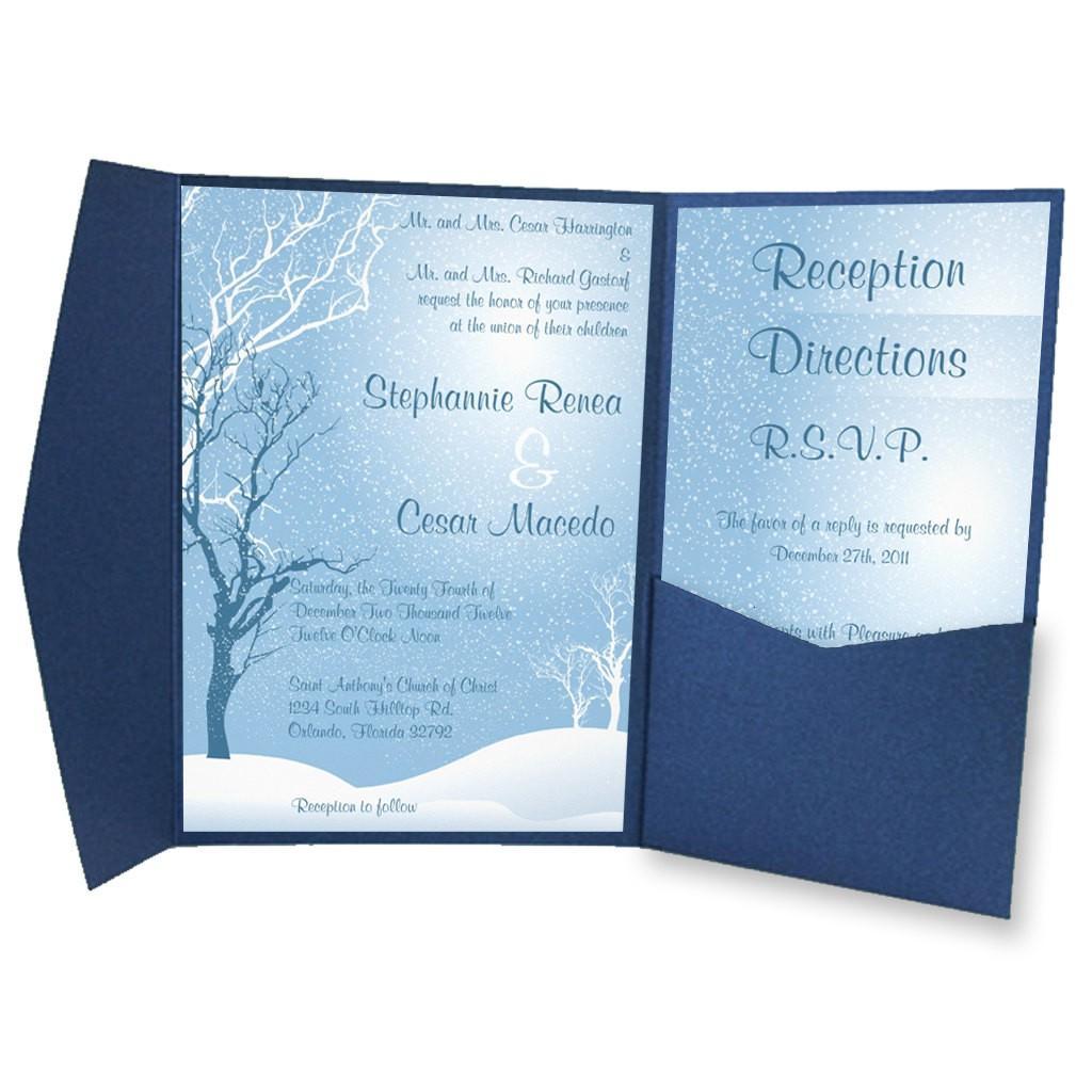 Mẫu thiệp mời thiết kế đơn giản với màu xanh dương ấn tượng
