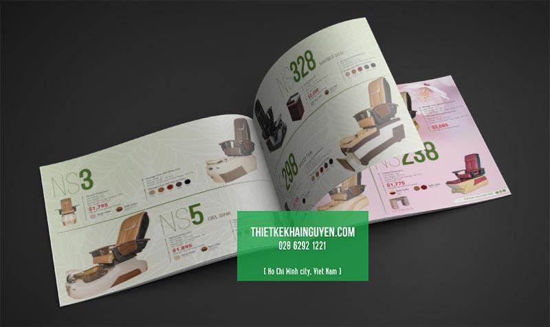Mẫu thiết kế catalogue kiểu ngang - catalogue ghế