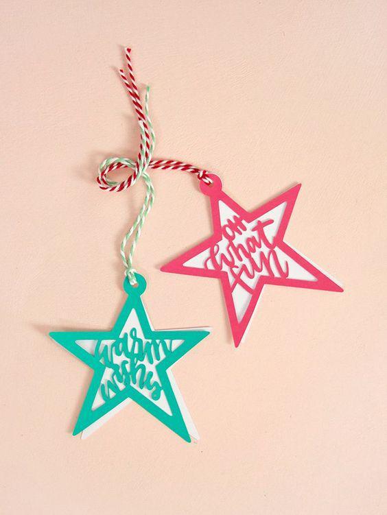 In tag quần áo hình ngôi sao đẹp