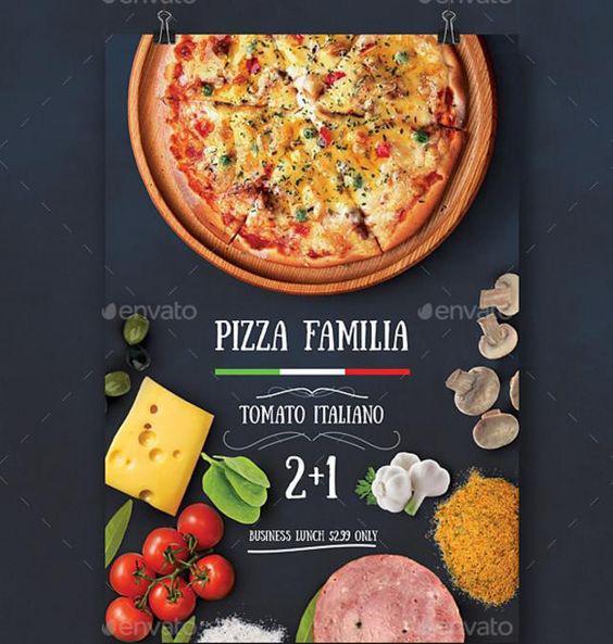 Mùa mưa thích hợp để thiết kế mẫu in voucher đẹp cho tiệm Pizza