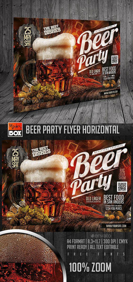 Mẫu in tờ rơi đẹp cho Beer Party