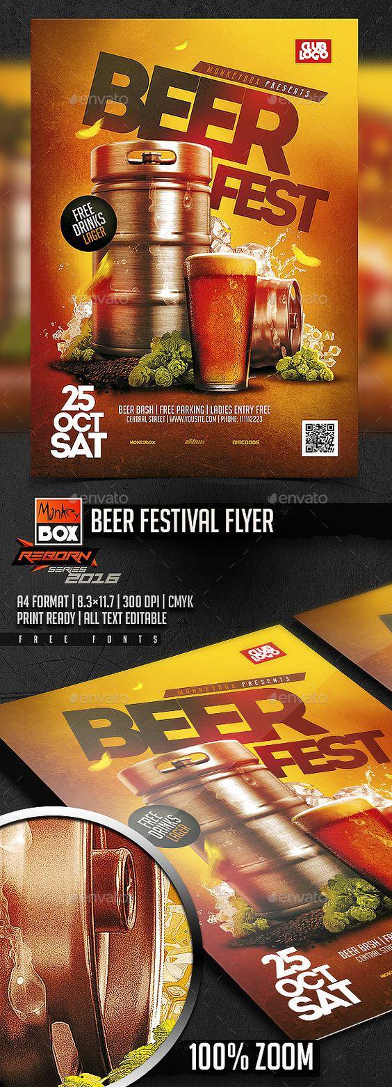 Mẫu in tờ rơi đẹp cho Beer Party ấn tượng nhất
