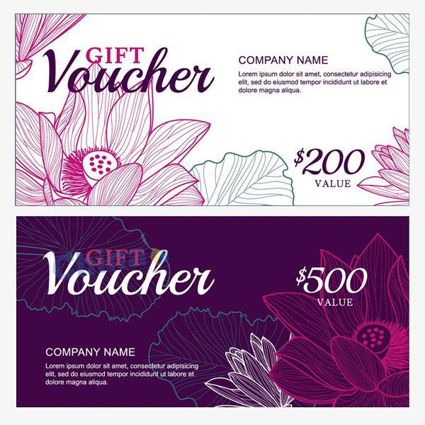 Màu sắc rất quan trọng trong một thiết kế voucher rẻ đẹp, thiết kế đẹp màu tím