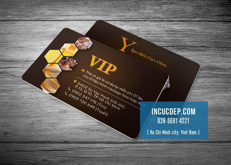 Mẫu thẻ VIP của trung tâm Spa