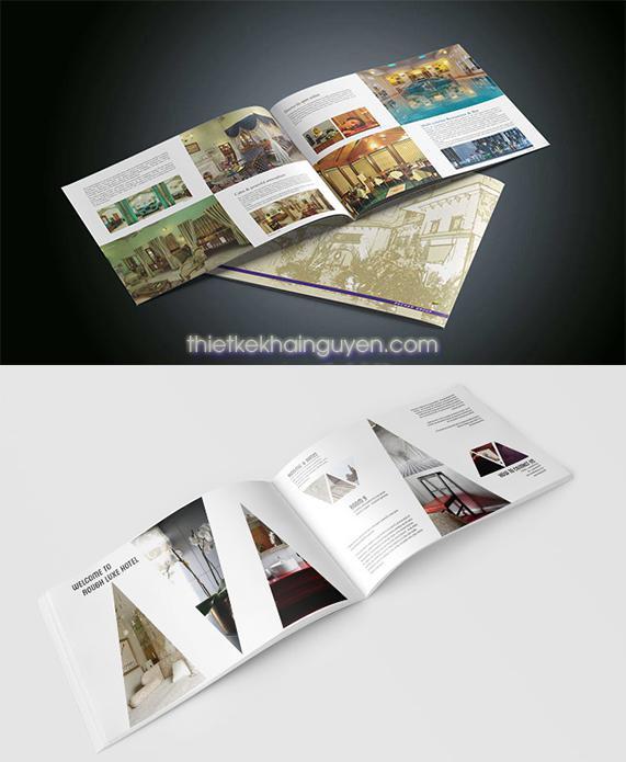 Brochure khách sạn - Brochure ngang