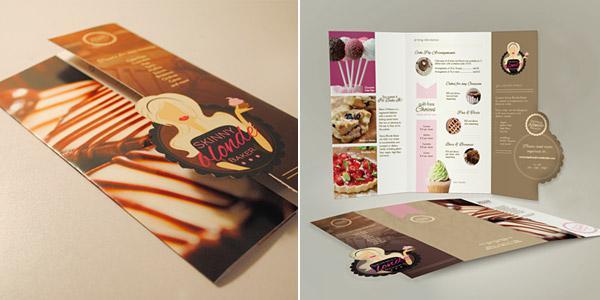 Mẫu in brochure tuyền thống thêm chút cách điệu