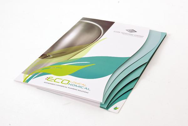 Tạo sự thu hút cho brochure dạng cuốn