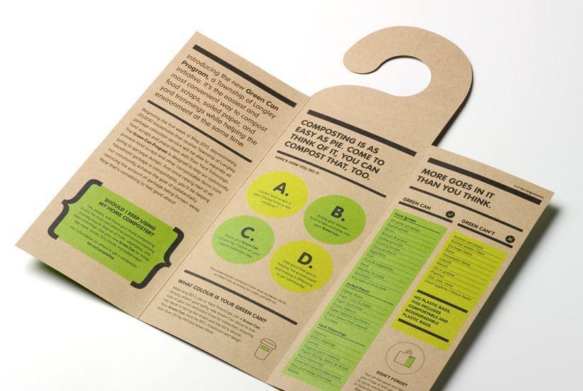 In brochure hình thẻ treo phòng - brochure kraft