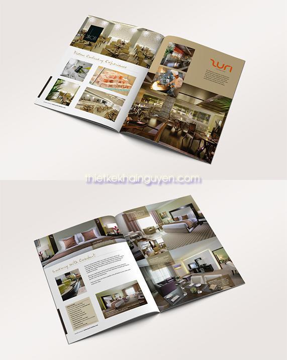 Thiết kế brochure khách sạn khổ A4