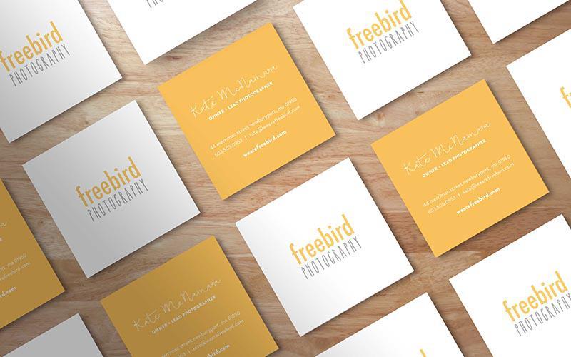 Thiết kế card visit hình vuông cho photography