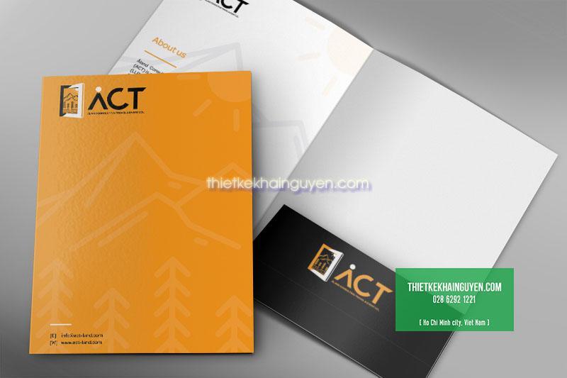 Mẫu thiết kế folder công ty nội thất