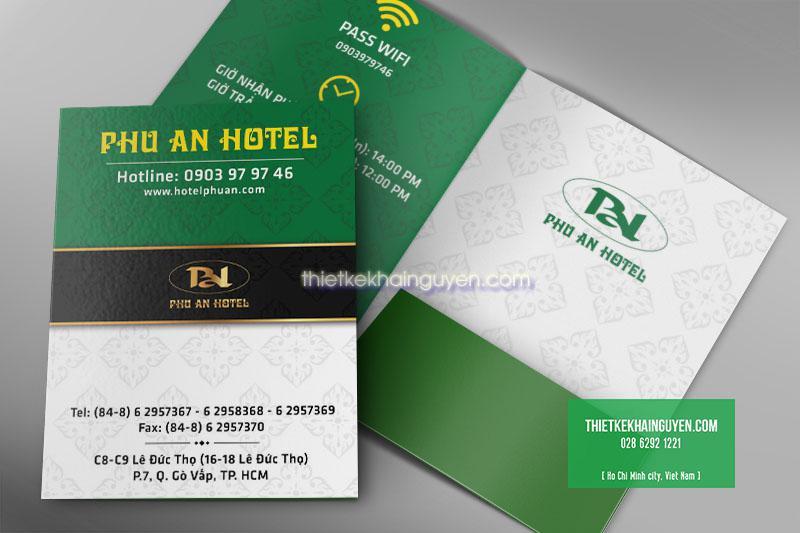 Mẫu thiết kế foler cho khách sạn