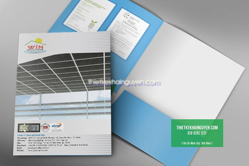 Thiết kế folder công ty Win