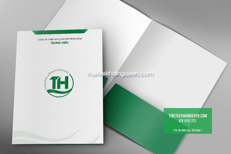 Thiết kế folder cho công ty Phần Mềm