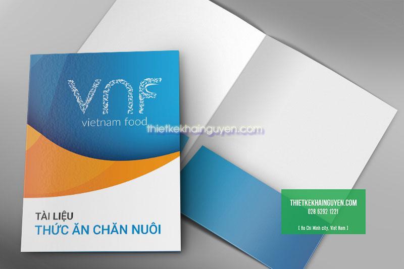 Mẫu thiết kế folder VNF - thức ăn chăn nuôi