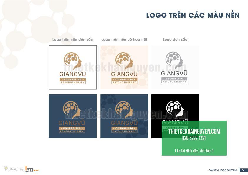 Phối logo lên nhiều màu nền khác nhau
