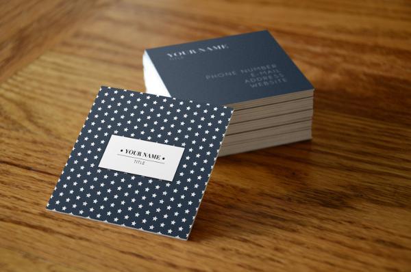 Thiết kế & in name card vuông bồi 2 lớp