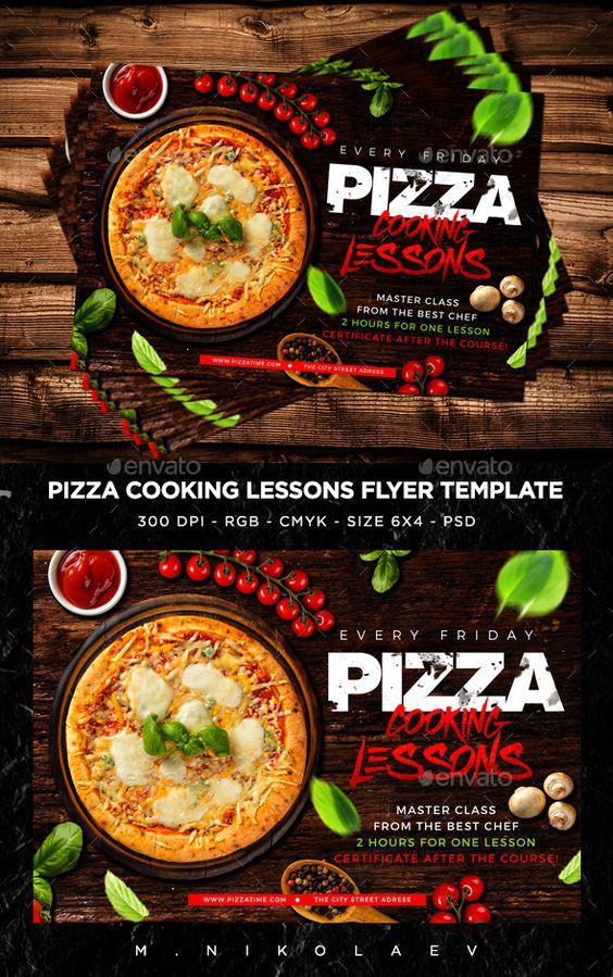 Làm thế nào để có mẫu in voucher đẹp cho tiệm Pizza màu đen
