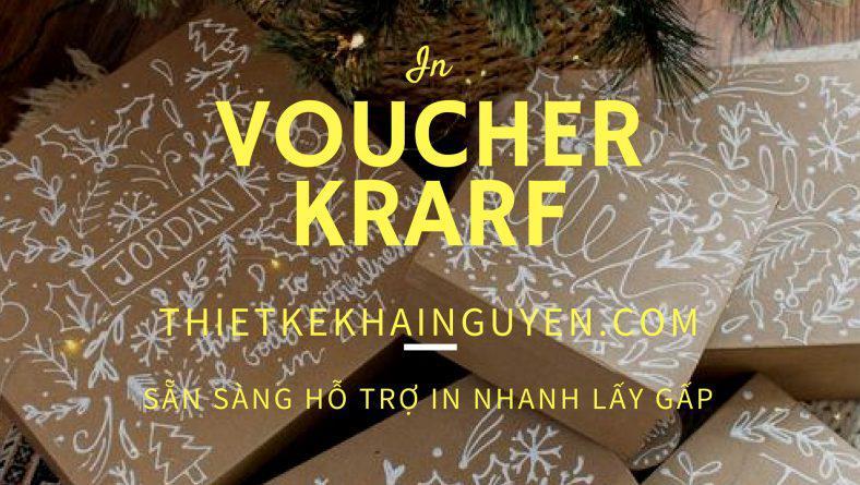 In voucher đẹp bằng giấy Kraft