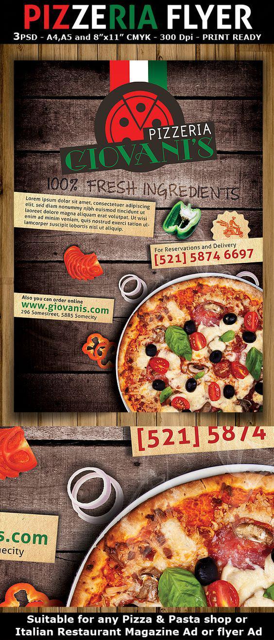 In tờ rơi đẹp cho tiệm Pizza ấn tượng nhất TPHCM