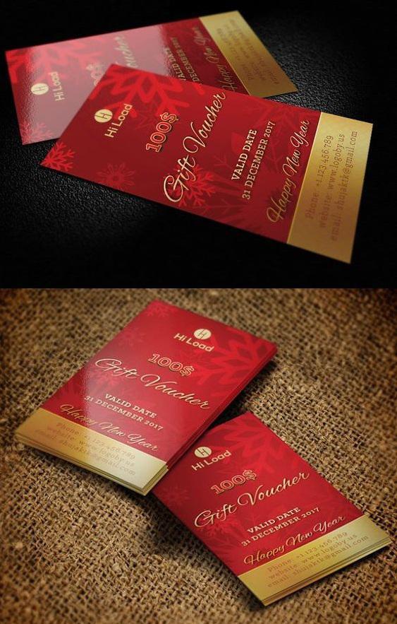 Mẫu in voucher màu đỏ đẹp và chất lượng nhất TPHCM