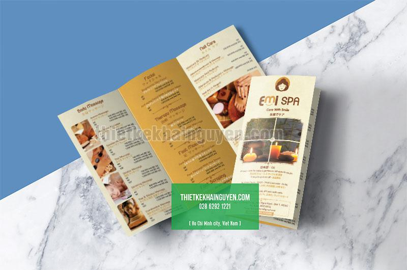 Brochure gấp 3- Emi Spa Brochure