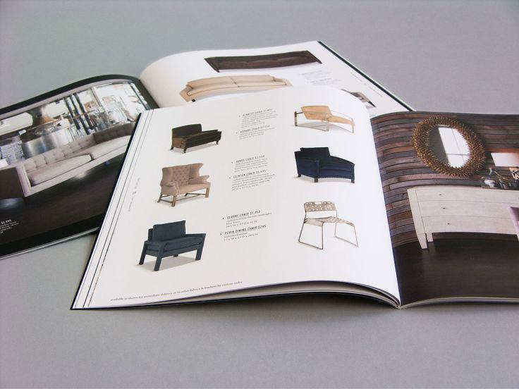 Mẫu thiết kế brochure ghế đơn giản