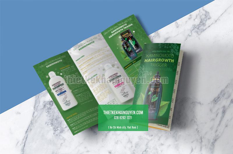 Mẫu brochure mỹ phẩm - dầu gội