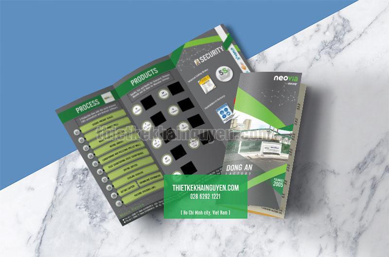 Thiết kế brochure - tờ gấp cho công ty Neovia