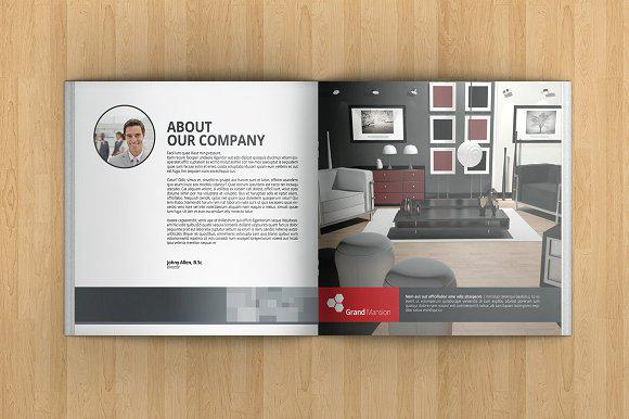 Kiểu thiết kế brochure nội thất vuông