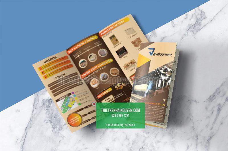 Mẫu thiết kế brochure nội thất - dạng gấp 3