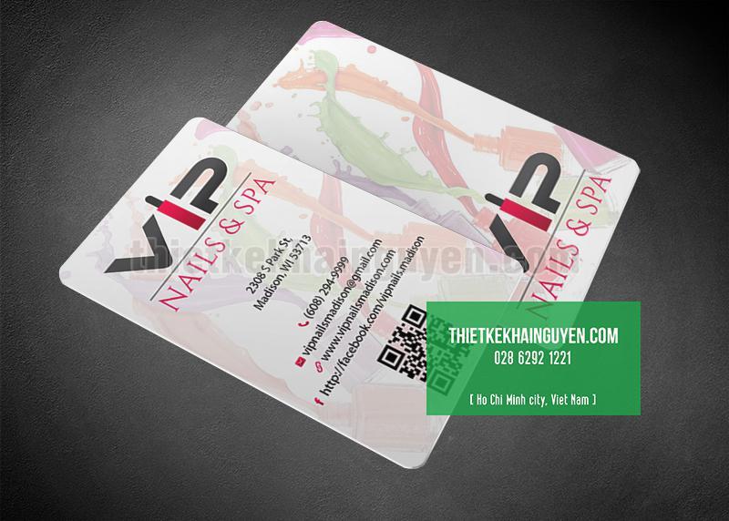 Mẫu thẻ VIP cho Nails Spa