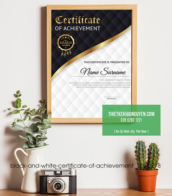 Mẫu design giấy chứng nhận đẹp