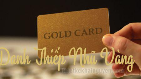 In danh thiếp nhũ vàng bằng thẻ nhũ pvc cao cấp