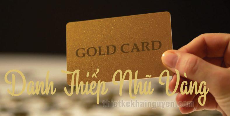 In danh thiếp nhũ vàng - danh thiếp bằng thẻ nhũ vàng