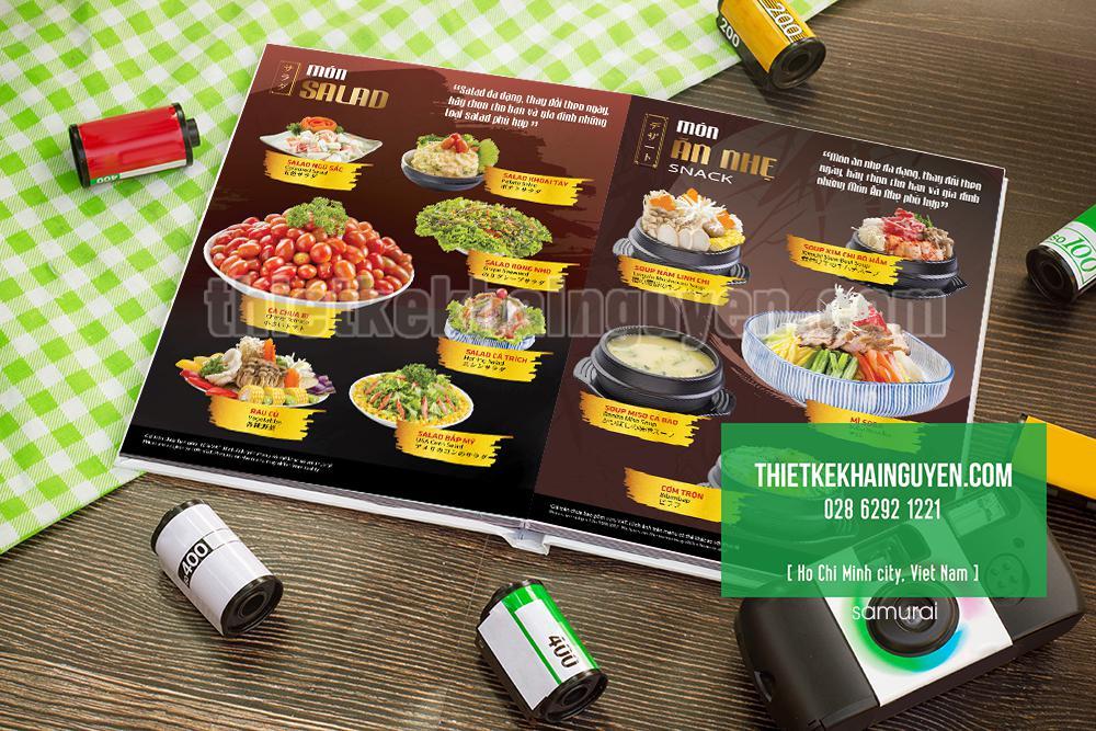 Thiết kế & in ấn menu nhà hàng Nhật