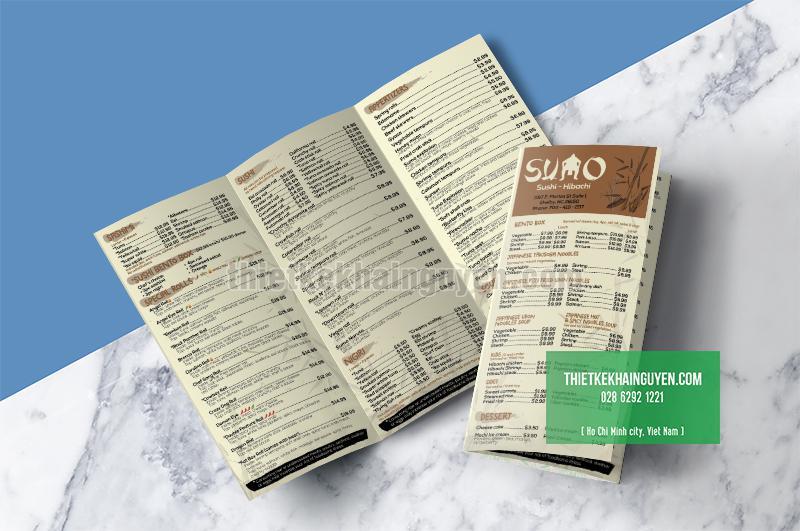 In menu togo - menu mang về cho nhà hàng Nhật