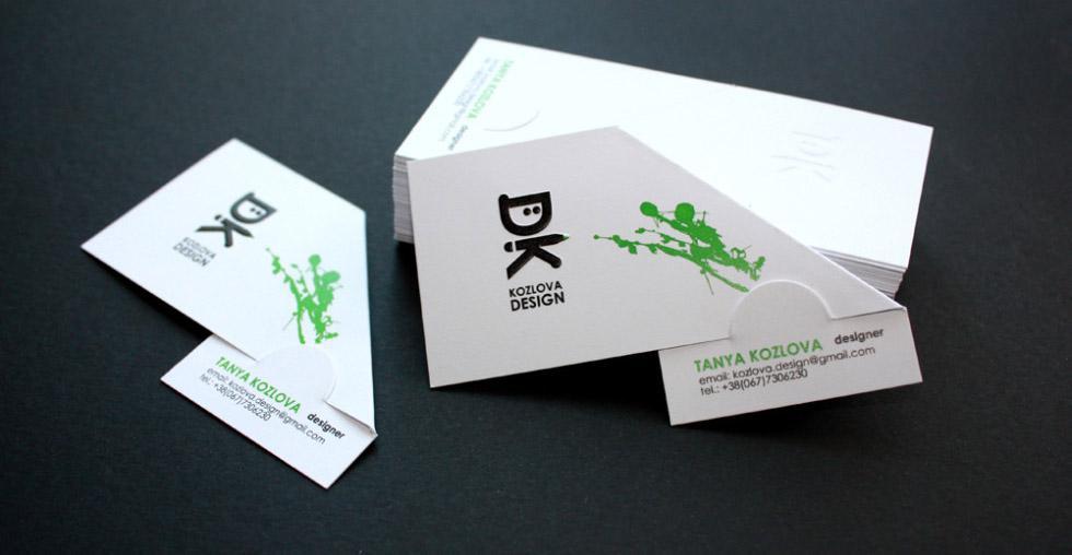 In name card gập đôi chéo