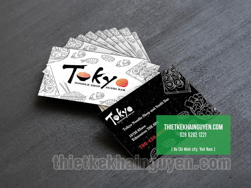 Mẫu thiết kế name card nhà hàng Nhật TOKYO